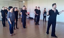 Clase de técnica de bailes de salón